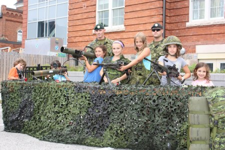 Kids and soldiers at MIFF
